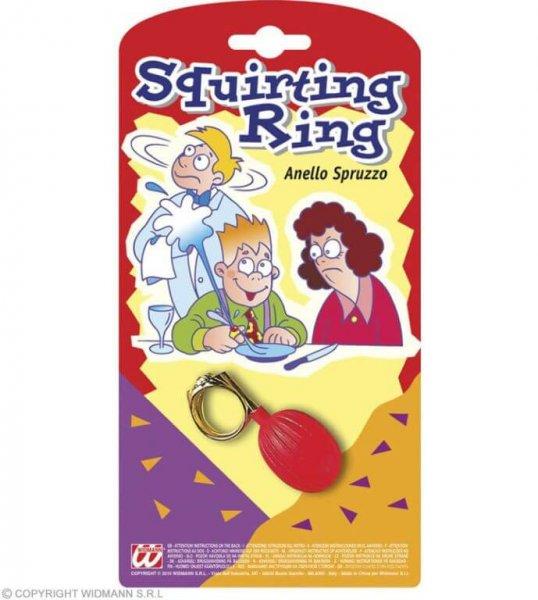 Ein riesen Spass .. der spritz Ring am Finger