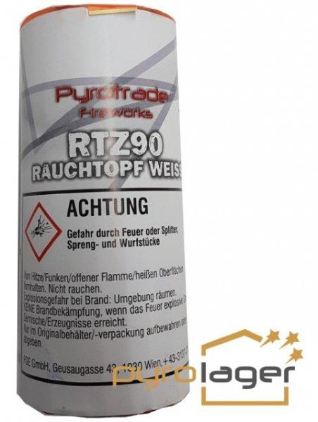 Rauchtopf RTZ90 Weiß - Pyrolager.de