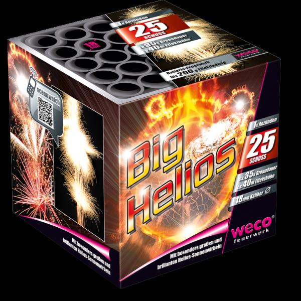 Big Helios Batterie von Weco - leises Feuerwerk