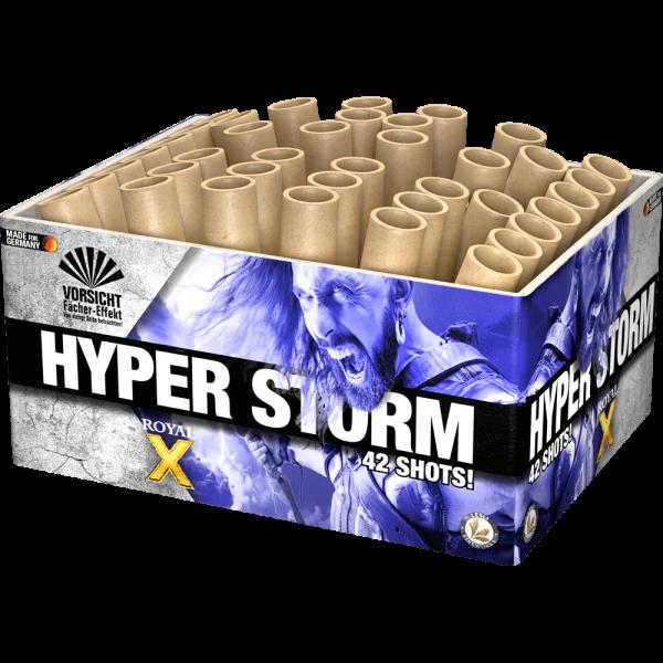 Hyper Storm - 42 Schuss Fächerbatterie zum Thema Gold