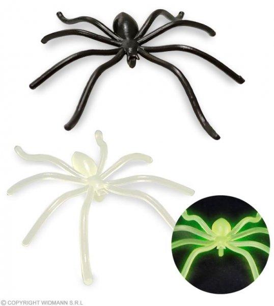 6 gruselige Spinnen in schwarz und Neon