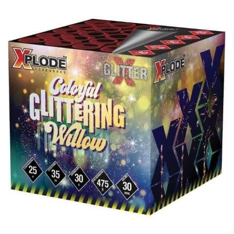 XP5386 - Colorful glittering Willow - 5x5 Schuss Salven mit tollen Willow Effekten