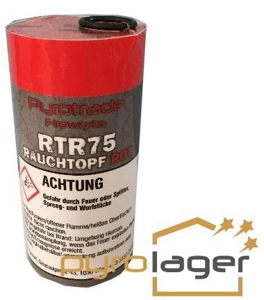 Rauchtopf RTR75 Rot - Pyrolager.de