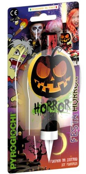 Eisfontäne mit einem Horror - Halloween Motiv