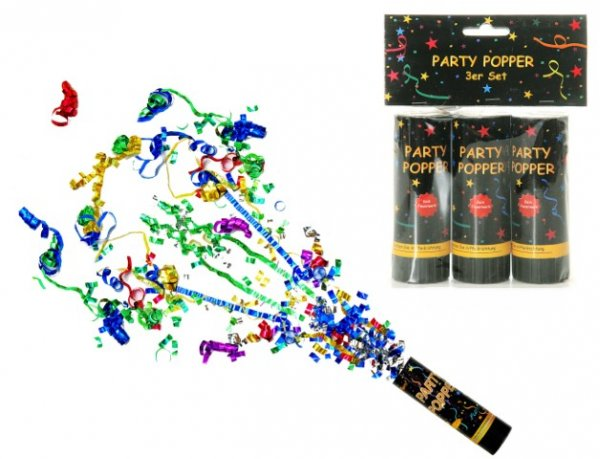 Party Popper 3er Set