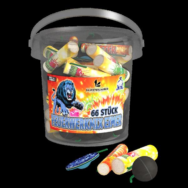 Feuerwerkmix Eimer - 66 Teile